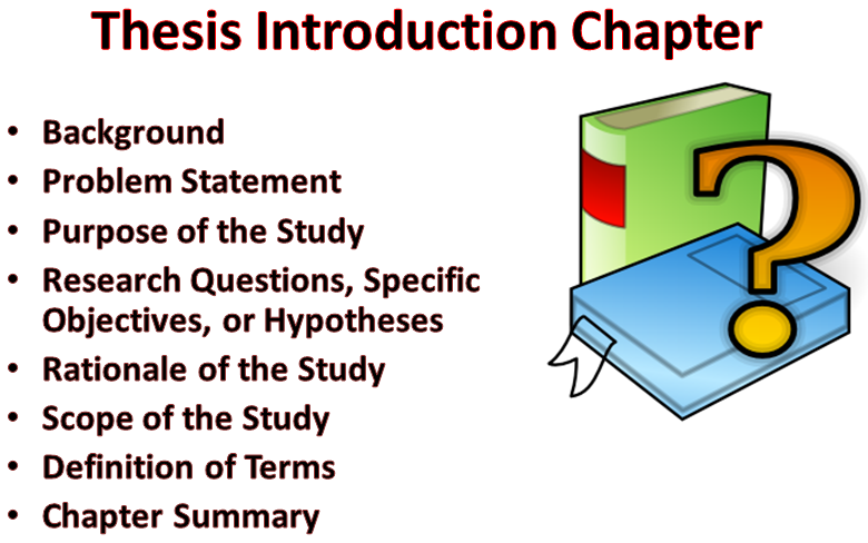 "chapter introduction thesis Structuring a thesis introduction posted on february 20, 2013 | 29 comments if the introduction chapter has a name other than ""introduction""."